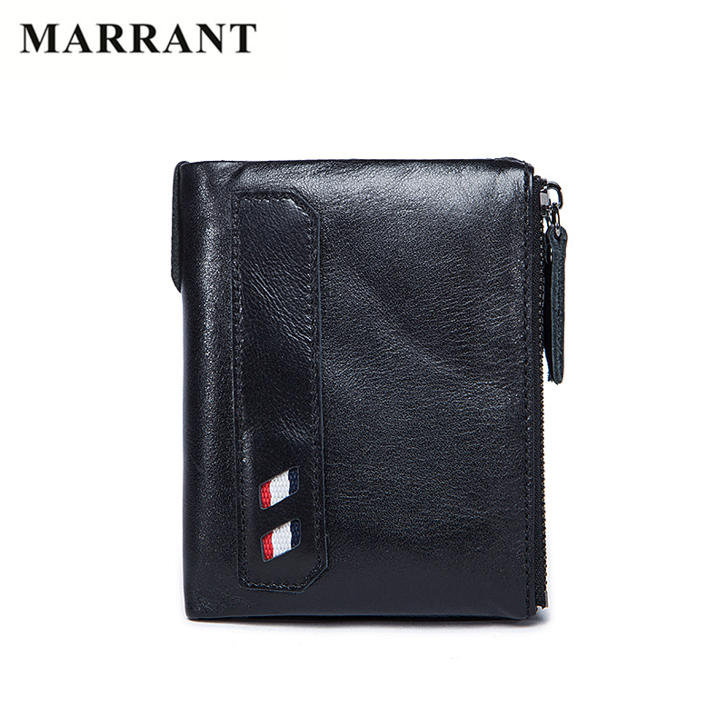 MARRANT New Arrive Wallet Mens Genuine Leather Wallet Vintage Zipper Short Male Clutch Wallets Fashion Purse With Card Holder<br><br>Aliexpress