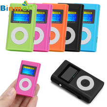 Binmer Nice MP3 Player Design USB Mini MP3 Player LCD Screen Support 32GB Micro SD TF Card Top Sell Levert Dropship(China)