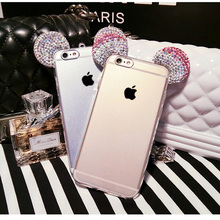 Bling Glitter Diamond Skin Case For iPhone 7 5 6 S 5S SE 6S Plus 6plus 7plus Cover Fashion 3D Silicon TPU Mobile Phone Housing