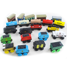 Wooden Thomas Train Car Children's Toys Wooden Magnetic Puzzle Toy Cars And Locomotives Gift