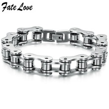 Fate Love Summer Collection New Bike Bicycle Chain Stainless Steel Bracelets Man Cool Wristband Jewelry Best Gift 20.5cm FL3136