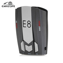 E8 Car Laser Radar Detector 360 Degree Speed Control Road Safety Warner Cars Alarm Security System English/Russian Warning