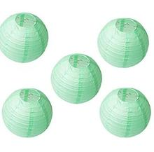 10pc  Mint Green Chinese Paper Lantern Birthday Wedding Party decor gift craft DIY wholesale retail