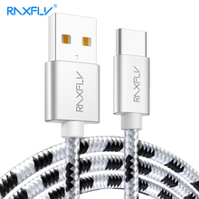 RAXFLY Type C Cable Nokia 8 Plus Data Type USB C Cable One Plus 5 5T 6 Type-c Charging Wire Cord Xiaomi Redmi Note 7