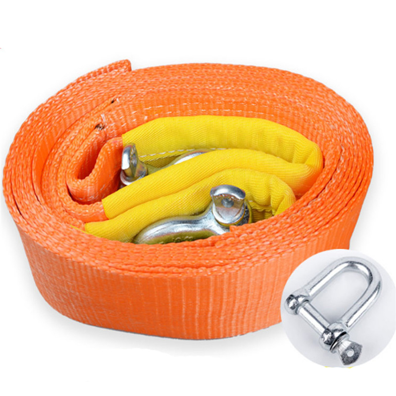 Tow-Cable-Strap Towing-Rope Road-Recovery Tons Heavy-Duty 6M for Car 4WD Extension title=