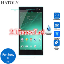 sFor Glass Sony Xperia C3 Tempered Glass for Sony Xperia C3 Screen Protector for Sony Xperia C3 Dual Glass D2502 D2522 D2533