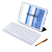 4 in 1 Leather Stand Smart Cover Case with Wireless Bluetooth Keyboard for iPad Air 2(China)