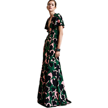Buy Sexy Dress New High Runway 2018 Spring Summer Women'S Party Office Elegant Elegant Boho Beach Printing Maxi Long Dresses for $40.92 in AliExpress store