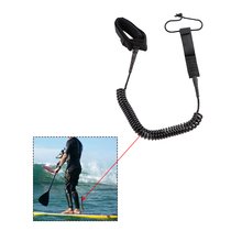 5.5mm 7ft-10ft Coil Surfboard Leash Surfing Board Foot Rope Strap Coiled by Bullet Proof Stainless Steel Surfing Accessories(China)