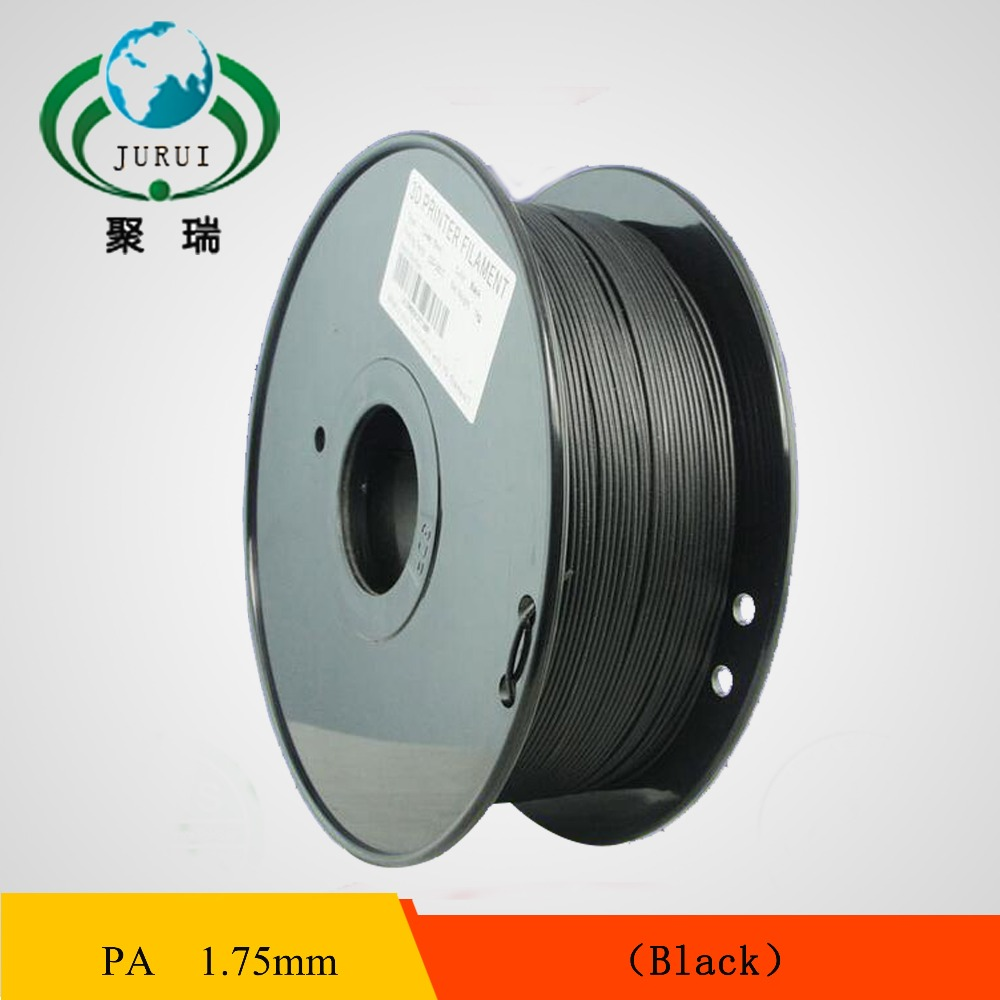3D printer filament 1.75mm Nylon PA extruded plastic black colour 3D printer material high strength engineering level<br>