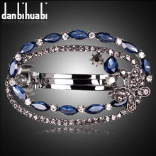 danbihuabi blue round hair clip for women luxuruous girls hair clips accessories trendy vintage hairs accessoires bow jewelry