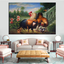Wall Art, Wall Decor, Wall Painting chicken farm Digital oil Painting Print, Nice Painting for wall picture no frame(China)