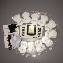 JR-309A Digital EMS Tens Therapy Massager Machine Acupuncture Stroke Muscle Simulator Sculptor Massage + 20pcs Electrode Pads