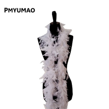 1 PCS Christmas Decorative White Color Marabou Feather boa Plume Scarf Halloween clothes/Lady Wedding DIY accessories