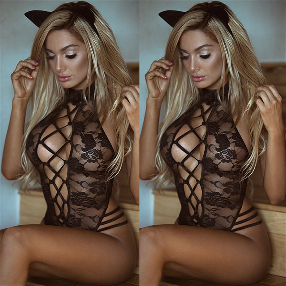 2019 New Cosplay Sexy Hot Erotic Costumes Lingerie Lace Dress Babydoll Women's Underwear Nightwear Sleepwear Porno Drop Ship(China)