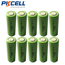 10pcs/lot PKCELL New 1.2V 4/5AA 1300mAh Ni-Mh 4/5 AA NiMh Rechargeable Battery Flat Top Industrial Batteries(China)