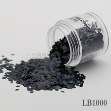 2017 diamond shaped nail decorative sequins DIY Laser Colorful Black Shine metal texture 3D Slice canned 2mm LB1000