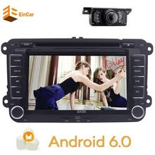 Camera+7'' Android 6.0 Head Unit Double Din Car Stereo headunit GPS Radio Bluetooth Wifi OBD2 Multi-touchscreen Can-bus Car DVD(China)