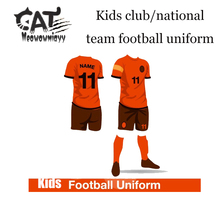 Kids boys sport sets 2017 summer children clothes sets boys short sleeve football uniform training clothes sets(China)
