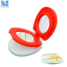Multifunction Egg Slicers Section Cutter Divider Plastic Egg Splitter Cut Egg Device Creative Kitchen Egg Tools(China)