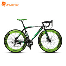 Cyrusher New Updated XC700 700X28C Man's Road Bicycle 14 Speed Aluminum Alloy Frame Mechanical Disc Brakes Outdoor Cycling Bike(China)