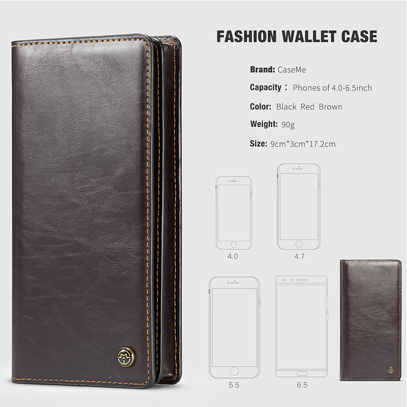 Leather Universal Wallet Cover Case For Xiaomi Mi 8 SE 5s A1 A2 Lite Redmi 6A 6 Pro 4A 5 Plus S2 Note 5 3 4 4X 5A Global Version Y1 Cover (2)