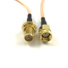 1pcs RP Sma Male to RP Sma Female Connector Pigtail WLAN Telecom RF Antenna RG316 Coaxial Extension Cable 15cm
