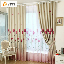 Blinds Garden Thick Curtain Cortina The Curtains Shading Cloth Print curtains Bedroom Floating free Shipping