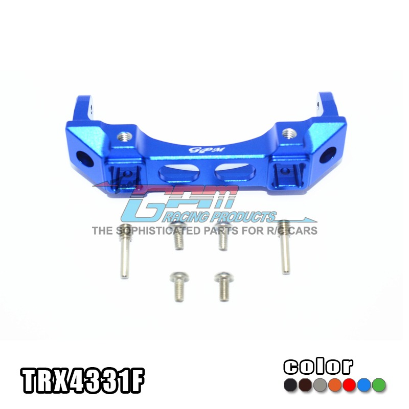 TRAXXAS TRX-4 TRX4 82056-4 Front bumper mount  pump holder aluminium alloy stable exquisite - set  TRX4331F free shipping<br>