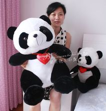 "Stuffed animal lovely panda "" I love you "" Panda 19 inch plush toy large 50cm doll GIFT wp73"
