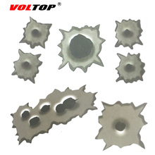 VOLTOP 3D Bullet Holes Car Stickers Paint Surface Scratch Cover Car-styling Reflective Strips Motorcycle Auto Sticker Decal Film