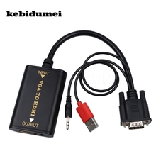 kebidumei 2017 1080P VGA to HDMI Converter Audio AV Converter HDTV Video Cable VGA2HDMI For HDMI TV Laptop(China)