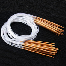 100cm [2.0mm-10mm] 18pcs/Set 39'' Carbonized Bamboo Plastic Tube Circular Knitting Needles For Knit Weave Yarn Craft HandCraft