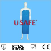 On sale Blue white TPU Industry apron waterproof heavy duty proof apron water resistant apron