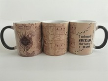 mischief managed mugs hogwarts cups marauder's map mug marauders map cup heat reveal heat changing colour tea cup magic mugs(China)
