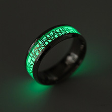 Cool Stainless Steel Men Ring Fashion League of Legends Game LOL Nightclub Jewelry Vintage Punk Glow Luminous Rings For Women(China)
