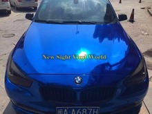 High Quality Flexible Dark Blue Chrome Car Vinyl Wrapping Film For Car Decal Air Bubble Free