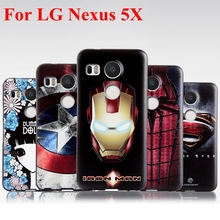Fashion 3D Stereo relief silicon soft coque Cover case For Nexus 5X (Not For Old Nexus 5) Cartoon Cell Phone back cover Funda
