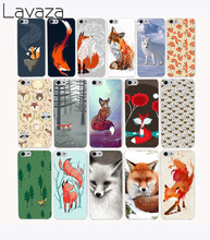 Lavaza 1417CA lovely Animal Fox Tea Hard Transparent Case Cover for iPhone 7 7 plus 4 4s 5 5s 5c SE 6 6s Plus case cover(China)