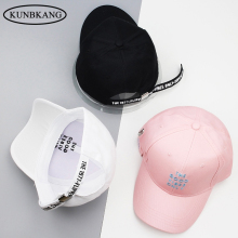 2017 Spring Summer Emboridery Couple Hats Letter Long Belt Baseball Cap White Snapback Hats Women Men Caps Casquette Bone Gorras