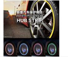 8M Car Styling Car Wheel Hub Sticker Decorative Strip for Mini usb pc minifigures minions camera cooper projector Accessories(China)