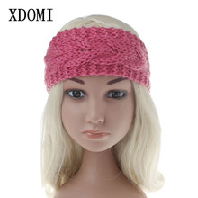 XDOMI 8 Colors Children Warm Knit Elastic Headbands Wool Crochet Turban Hair Accessories Winter Stretch Wide Head Wraps for Girl