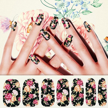 1 Pcs Nail Sticker Vintage Mixed Print Stickers And Nails Sticker Decal Harajuku Water Transfer Nail Art Butterfly Galaxy 16487