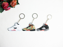 Mini Silicone Jordan 5 Keychain Bag Charm Woman Men Kids Key Ring Gifts Sneaker Key Holder Accessories Shoes Key Chain(China)