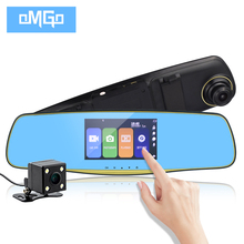 Touch Screen Dual Lens Car DVR Rearview Mirror Camera DVRs Auto Full HD1080p Dash Cam Night Vision Recorder Video Registrator(China)