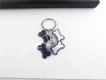 Creative pet dog bones keychain key chain pendant key ring more