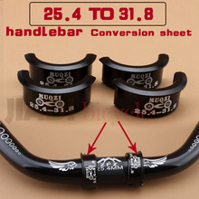 Bicycle Handlebar Conversion Sheet 25.4 to 31.8 mm Installation Aperture Adjust  Transformer MTB Road Bike Fixed Gear Foldable