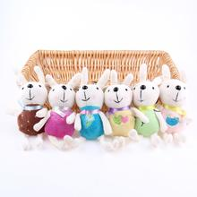 15CM 6pcs / Lot Plush Rabbit Toys Unique Gifts high quality Sweet Cute Angela rabbit doll Metoo baby plush doll for kids NEW DIY(China)