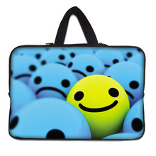 "Smile face Computer Bag Notebook Smart Cover For ipad MacBook Neoprene Sleeve Case 10 inch Laptop Bags for 9.7""10""10.1""10.2"" PC"