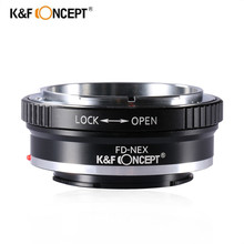 K&F Concept FD-NEX Lens Adapter Ring for FD Mount Lens to Sony NEX-3 NEX-5 NEX-VG10 Camera NEX Mount
